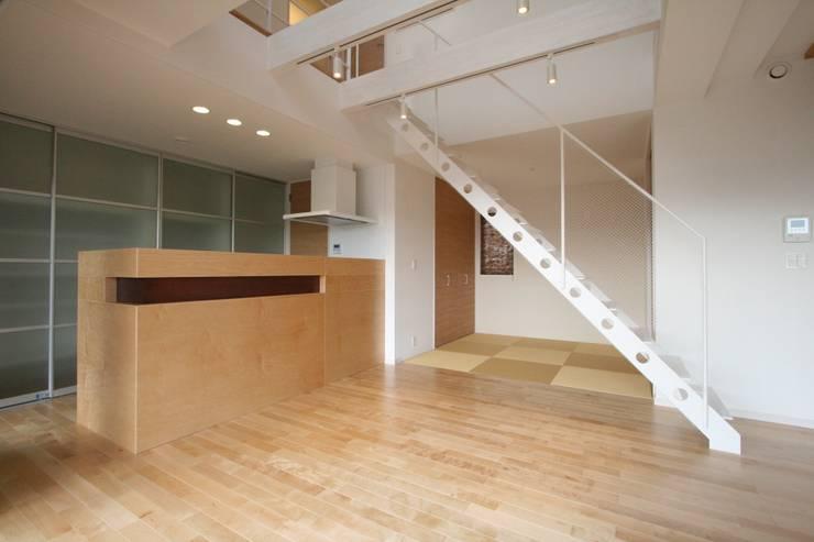 藤の木の家: CAF垂井俊郎建築設計事務所が手掛けたダイニングです。