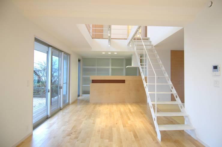 藤の木の家: CAF垂井俊郎建築設計事務所が手掛けたリビングです。