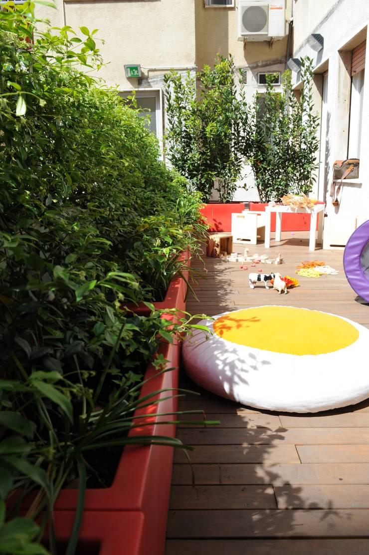 terrazza secondaria di Studio L'AB Landcsape Architecture & Building Moderno