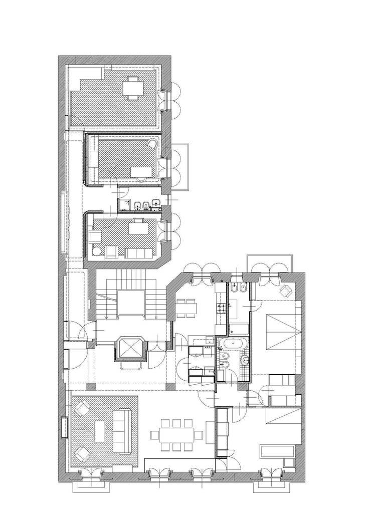 Abitazione con studi professionali:  in stile  di auge architetti,