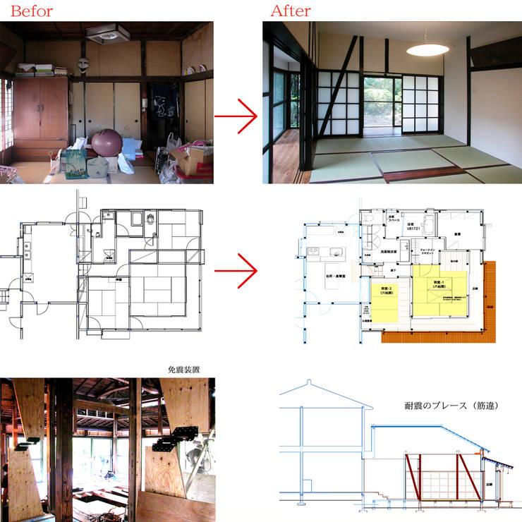 戦前の母屋をリフォーム: ユミラ建築設計室が手掛けたです。