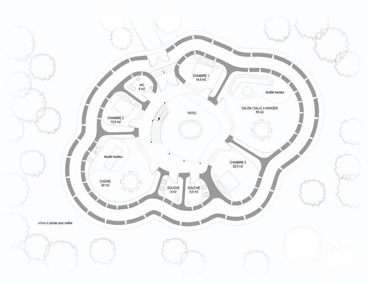 Tata Somba: Maisons de style de stile Rural par Ania Klukowski / architecte et Michel Grasso / architecte