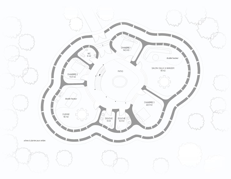 Tata Somba: Maisons de style  par Ania Klukowski / architecte et Michel Grasso / architecte