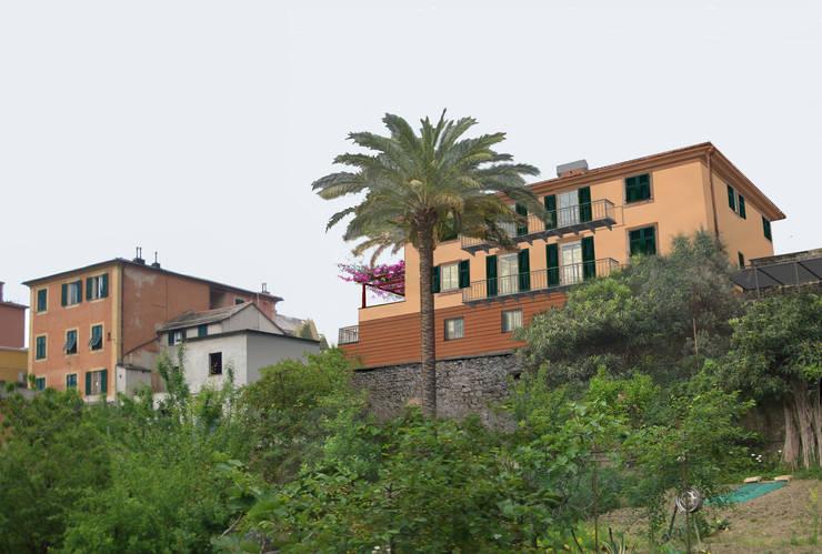 Rendering A (Progetto): Case in stile  di Alessio Costanzo Architetto, Mediterraneo