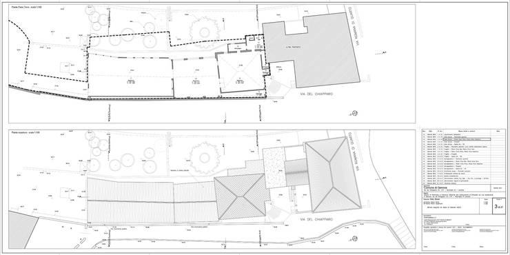 Tav. 3 (Stato attuale): Case in stile  di Alessio Costanzo Architetto, Mediterraneo