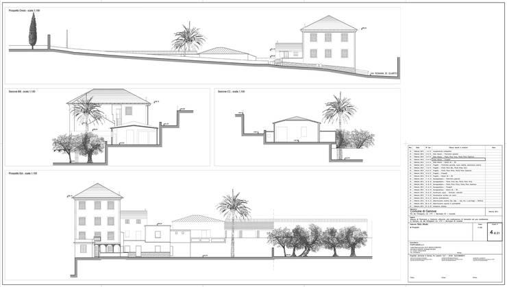 Tav. 4 (Stato attuale): Case in stile  di Alessio Costanzo Architetto, Mediterraneo