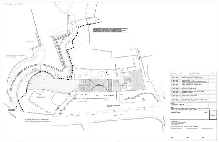 Tav. 6 (Progetto): Case in stile  di Alessio Costanzo Architetto, Mediterraneo