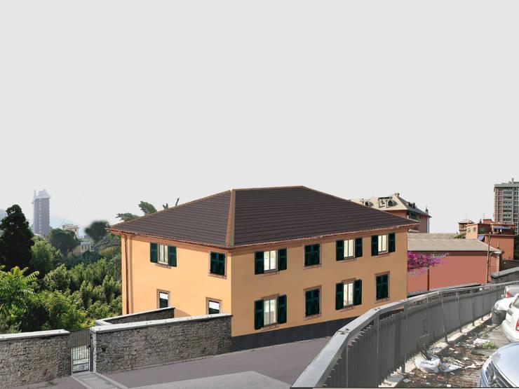Rendering B (Progetto): Case in stile  di Alessio Costanzo Architetto, Mediterraneo