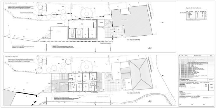 Tav. 7 (Progetto): Case in stile  di Alessio Costanzo Architetto, Mediterraneo