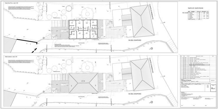 Tav. 8 (Progetto): Case in stile  di Alessio Costanzo Architetto, Mediterraneo