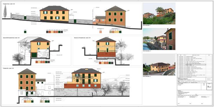 Tav. 9  (Progetto): Case in stile  di Alessio Costanzo Architetto, Mediterraneo