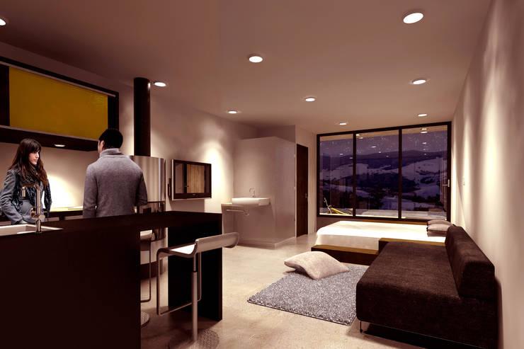 CREEL: HOTEL ECOTURISMO: Recámaras de estilo  por FACTOR: RECURSO