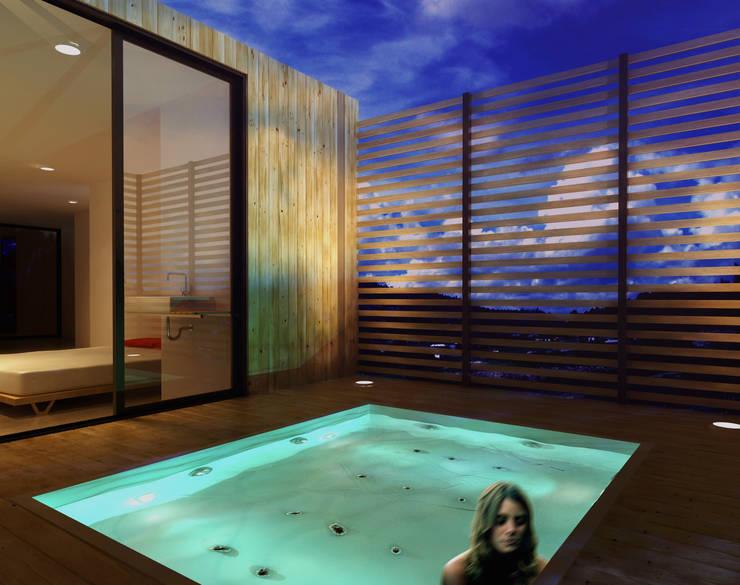CREEL: HOTEL ECOTURISMO: Terrazas de estilo  por FACTOR: RECURSO