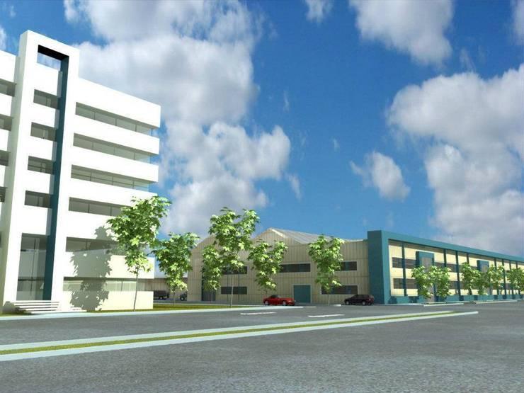 rehabilitación bodegas y oficinas:  de estilo  por AE ARQUITECTOS
