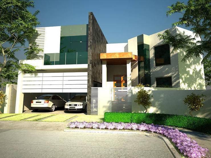 vivienda:  de estilo  por AE ARQUITECTOS