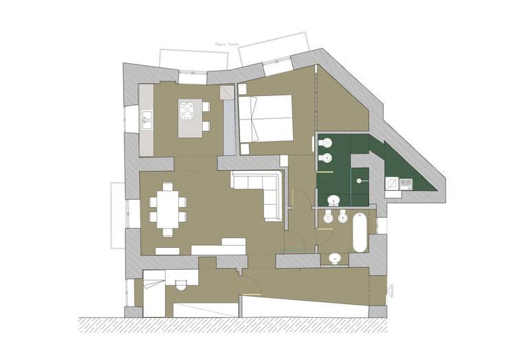 PIANTA : Case in stile  di M@G  Architettura&Design