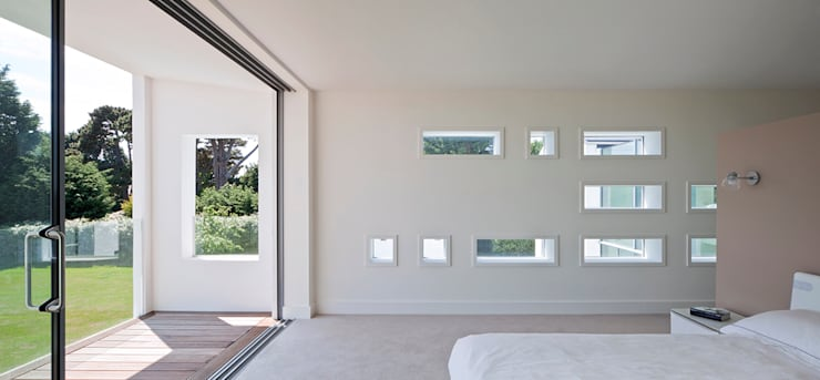 Le Foin Bas:  Bedroom by JAMIE FALLA ARCHITECTURE