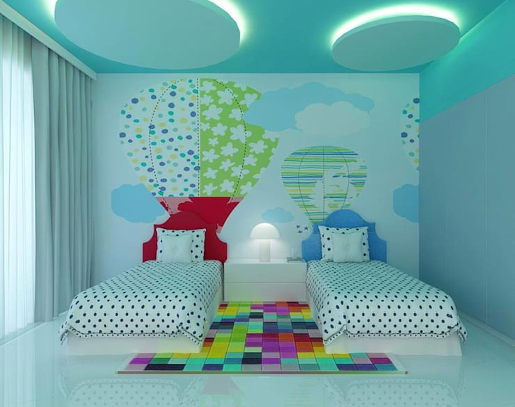 Semi Detached House, Ponderosa Green:  Bedroom by Honeywerkz