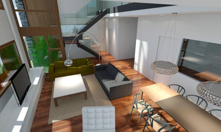 casa B: Casas de estilo  de Erredeeme Arquitectos slp