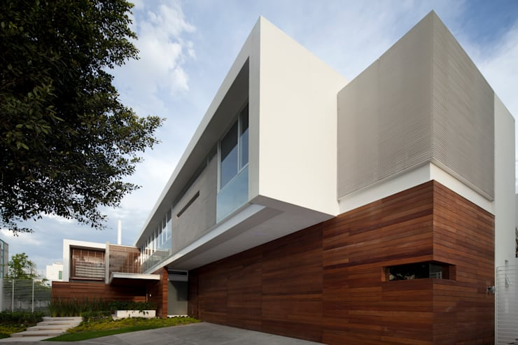 FF HOUSE: Casas de estilo  por Hernandez Silva Arquitectos
