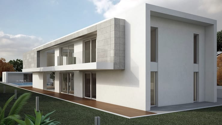 Kristal House: Casa in stile  di Orangeengineering