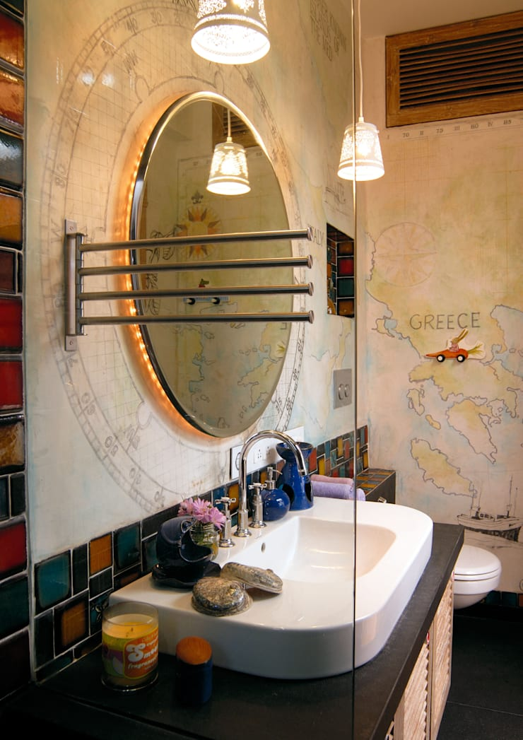 Old meets New :  Bathroom by The Orange Lane,Modern