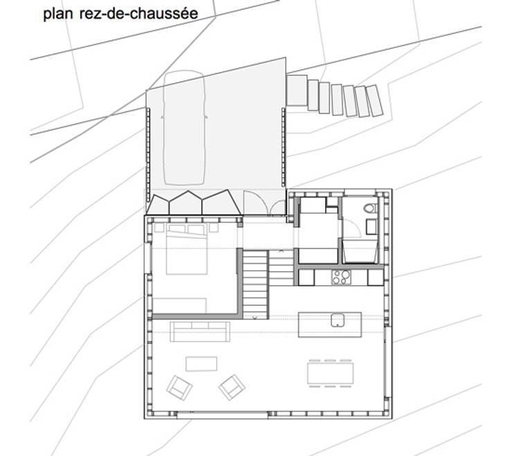 Projekty,  Domy zaprojektowane przez bunqARCHITECTES