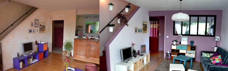 Transformation avant /après:  de style  par Julie Montbrizon Architecte d'intérieur