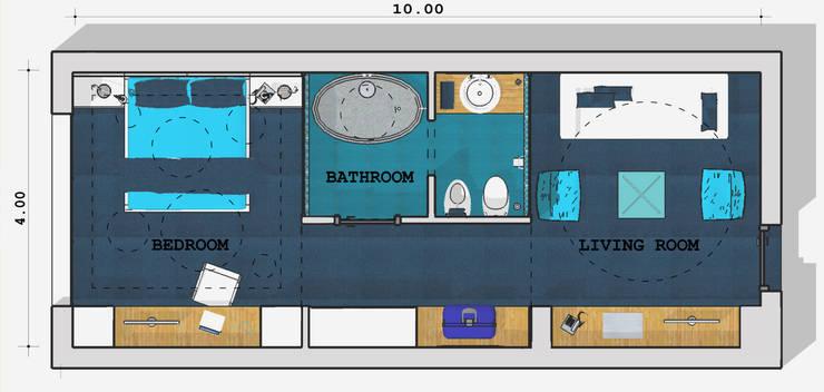 """Concorso """"Young Designers 2011""""   """"How tomorrow hotel's room will be"""": Hotel in stile  di Studio Architetto Daniele Agostinelli,"""