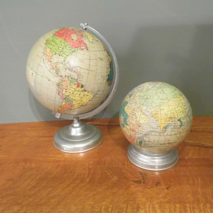 Illuminated Globes:  Living room by Travers Antiques