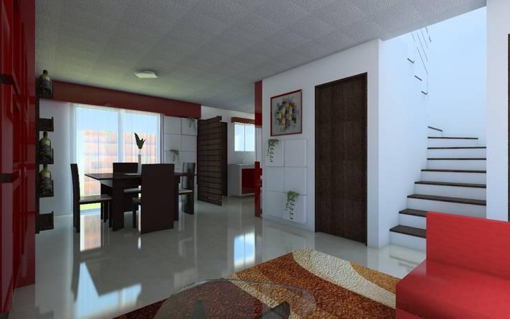 Sala y Comedor: Salas de estilo  por JRK Diseño - Studio Arquitectura