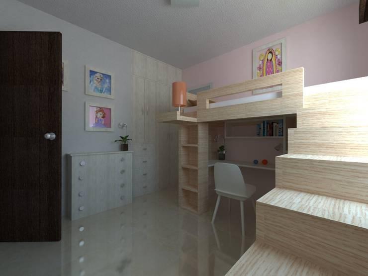 Recamara Infantil: Recámaras infantiles de estilo  por JRK Diseño - Studio Arquitectura