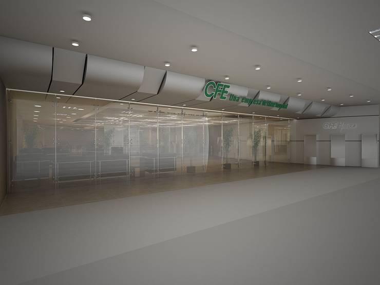 Centros de Atencion al Cliente CFE DVMN: Espacios comerciales de estilo  por JRK Diseño - Studio Arquitectura