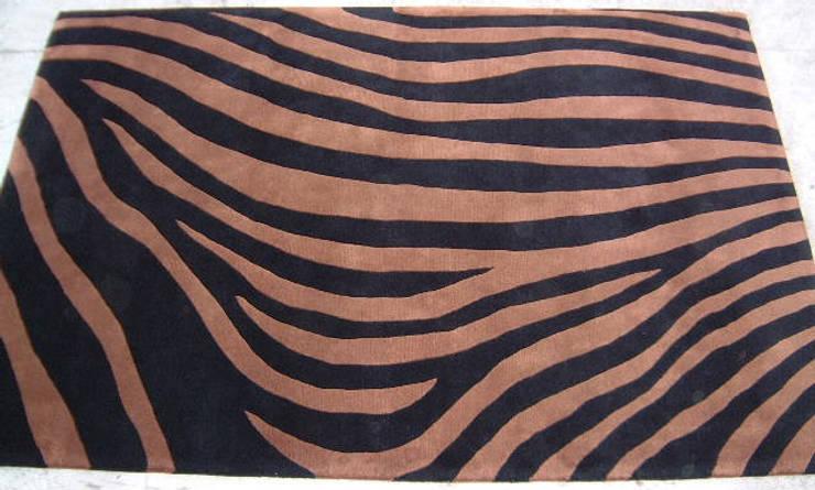 Zebra Stripes - Black /Brown:  Living room by Sterling Rugs