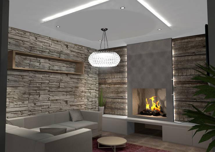 Abitazione Privata: Soggiorno in stile  di Masi Interior Design di Masiero Matteo