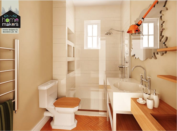 modern Bathroom by home makers interior designers & decorators pvt. ltd.