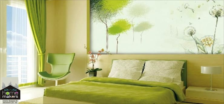 Ultra-modern and 'never seen before' art only by home makers: modern Bedroom by home makers interior designers & decorators pvt. ltd.