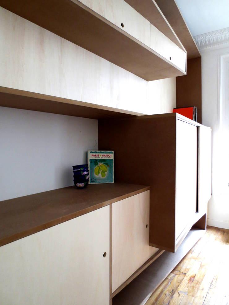 Maremeet – Bibliothèque: Salon de style  par Atelier Hô