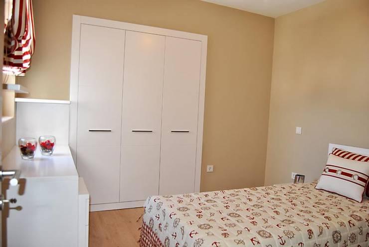 Estateinwest – Azure Villalari 2 Odali Flat Daireler:  tarz Yatak Odası