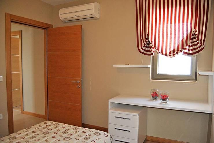 Estateinwest – Azure Villalari 2 Odali Flat Daireler:  tarz Yatak Odası, Modern