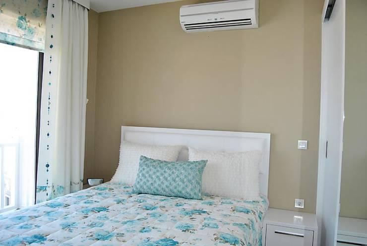 Estateinwest – Azure Villalari 2 Odali Flat Daireler: modern tarz Yatak Odası