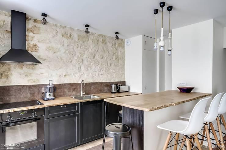 Rénovation et décoration complète d'un appartement: Cuisine de style de style Minimaliste par Jen Mood Architecture