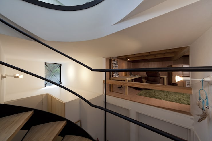 de estilo  por アトリエハコ建築設計事務所/atelier HAKO architects