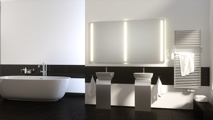 Bagno in stile in stile Moderno di Schreiber Licht-Design-GmbH