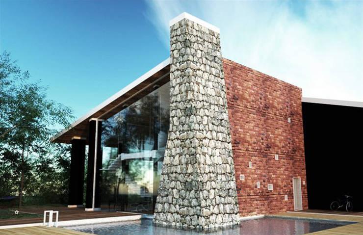 Villa Monofamiliare:  in stile  di Atelier Architetto Ermanno Boggio