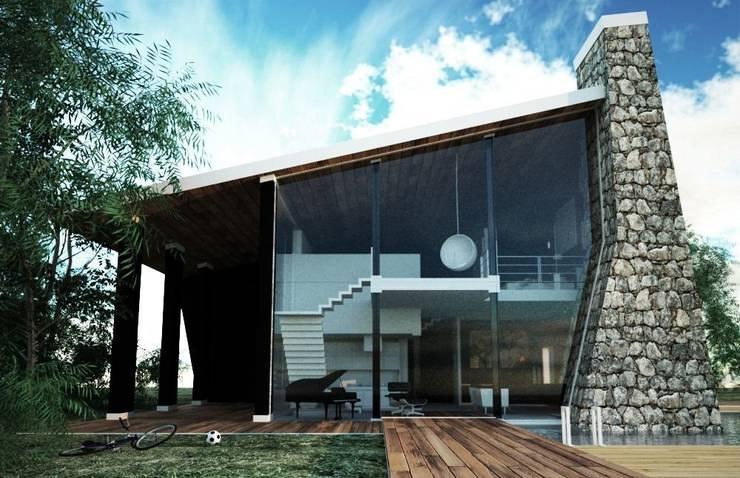 Render 1:  in stile  di Atelier Architetto Ermanno Boggio