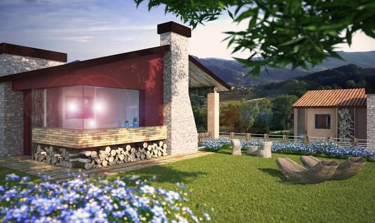 Render 1: Case in stile  di Atelier Architetto Ermanno Boggio