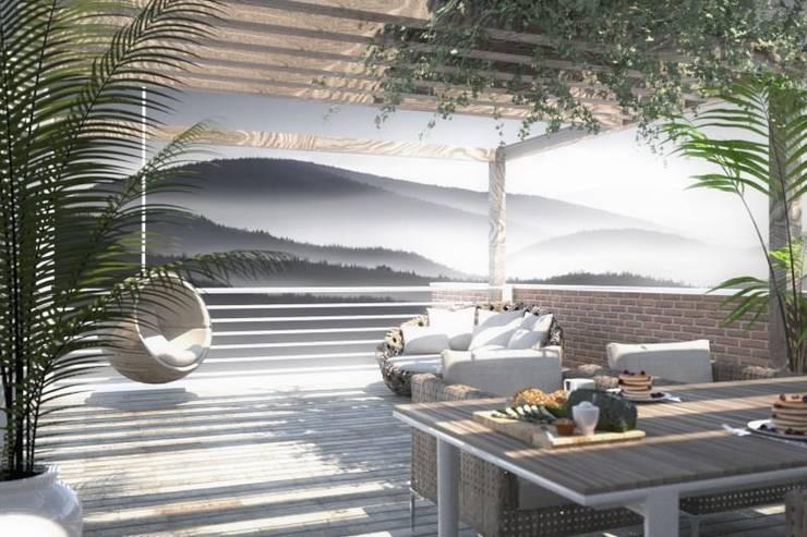 Villa Plurifamiliare: Case in stile  di Atelier Architetto Ermanno Boggio,