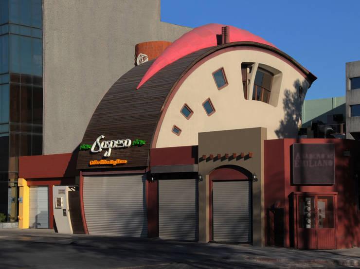 Cafe Sospeso: Oficinas y tiendas de estilo  por Chávez & Díaz Arquitectos