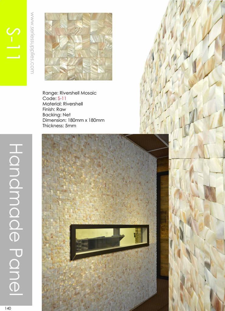 River Shell Mosaic:  Walls & flooring by series supplies